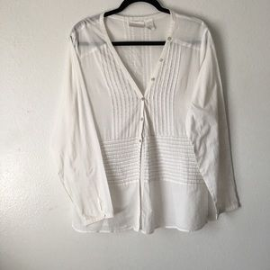 Soft Surroundings Pleated Button Down